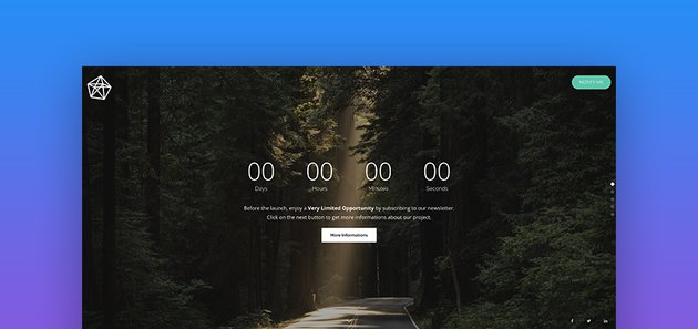 Pure Clean Splash Page Template