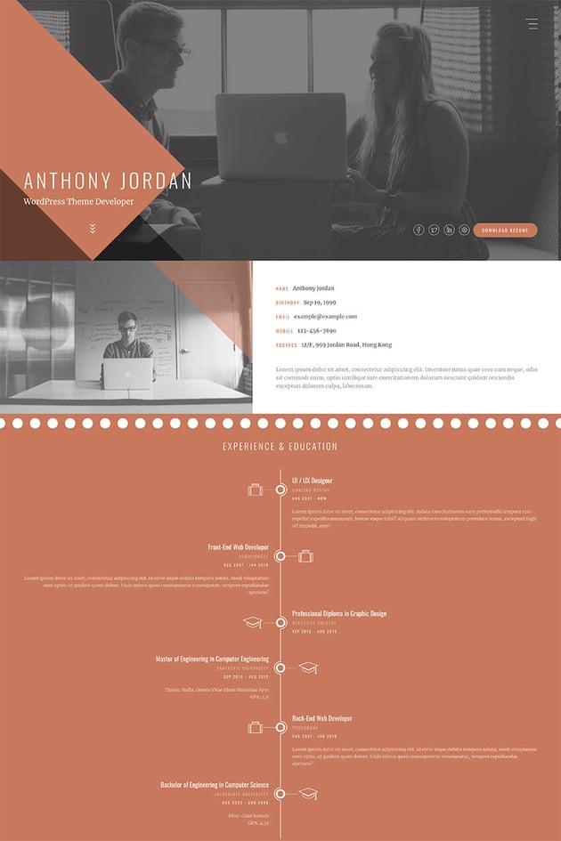 Jordon online resume template