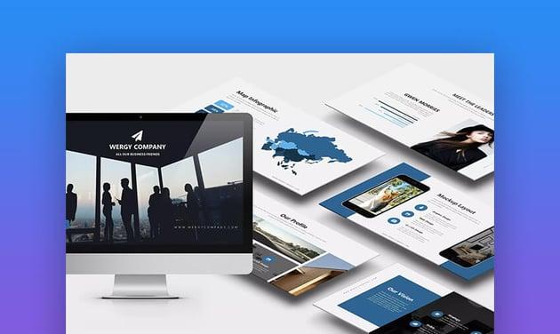 Wergy corporate modern presentation design