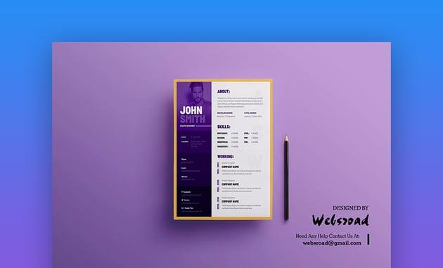 Creative Resume Visual Resume and CV Template