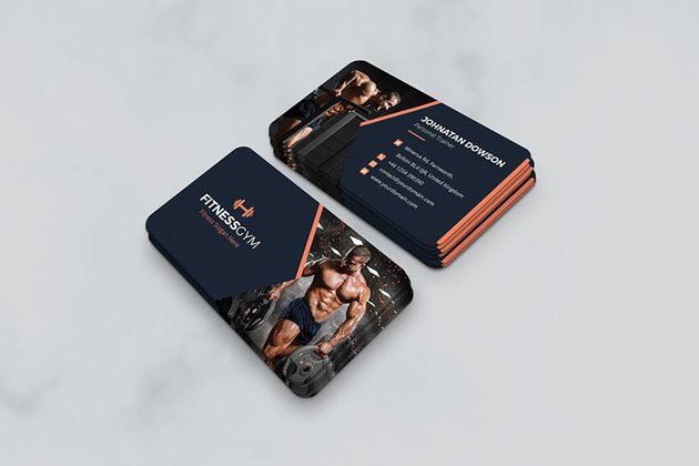 Gym Fitness and Health Business Card