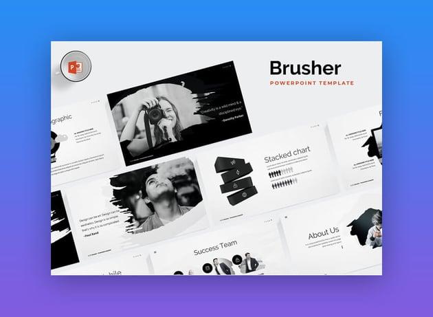 Brusher - Trendy PowerPoint Presentation