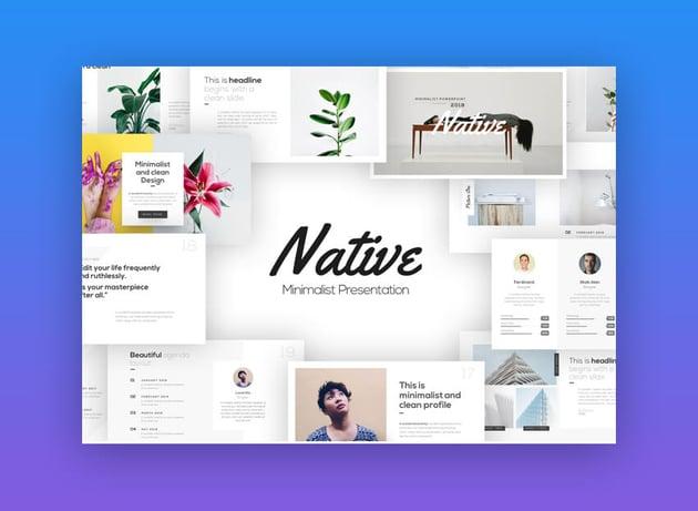 Native - Minimalist PowerPoint Presentation Design Template