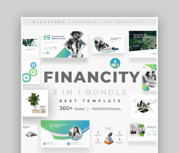 Financity - Clean Business Finance PowerPoint