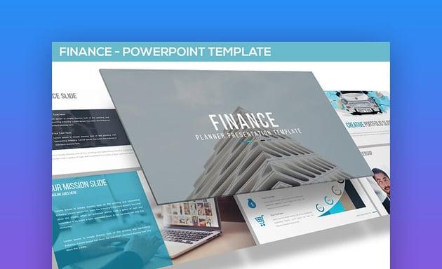 Clean Business Finance PowerPoint