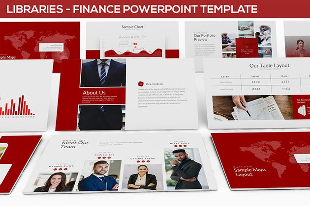 Libraries Finance PowerPoint Template