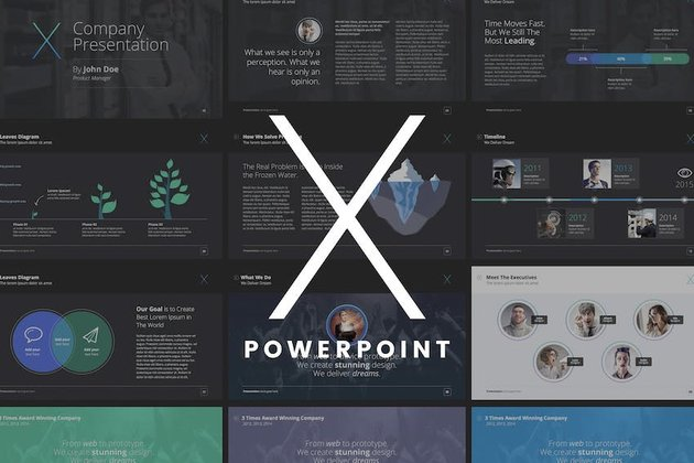 X Note PowerPoint Template
