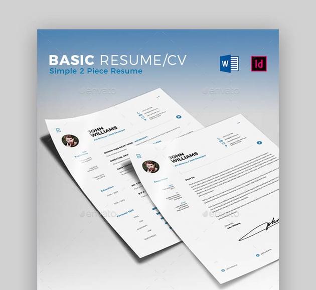 Basic Resume CV - Simple Resume Template