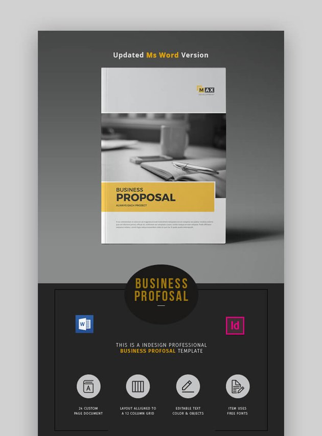 Proposal Word - Simple MS Word Business Proposal Template
