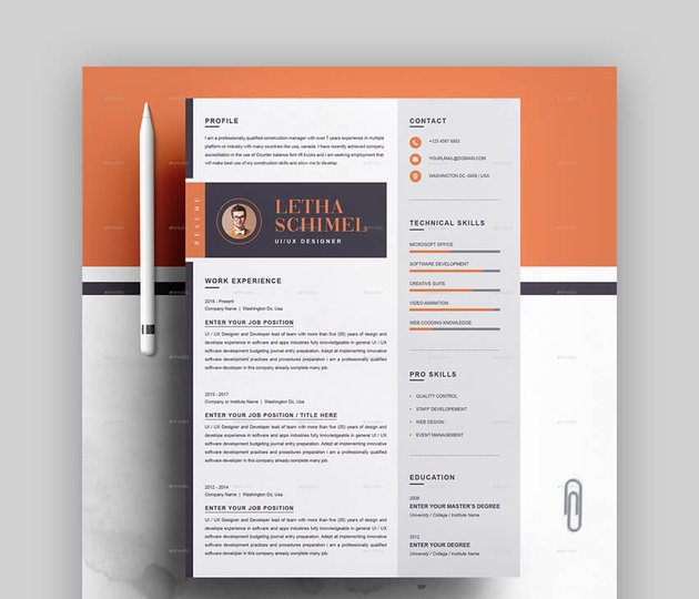 Resume - Elegant Basic Resume Template