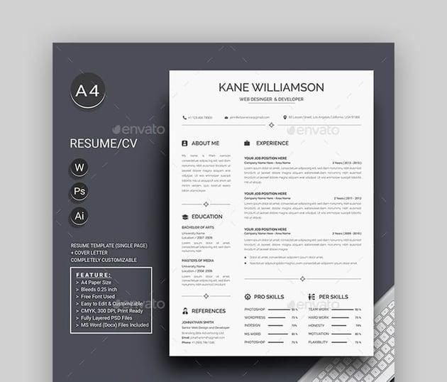 Resume - Simple Basic Resume Template
