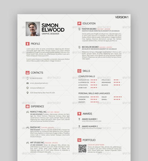 BD1 - Basic Flat Resume Template
