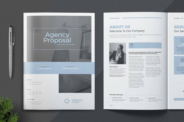 Business Proposal With Beautiful Typography