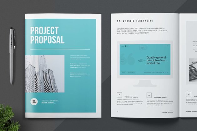 Business Proposal With Aligned Elements