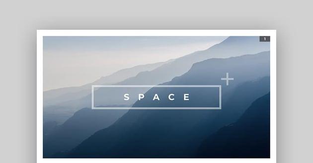 Space - Blue Mac Keynote Präsentationsvorlage