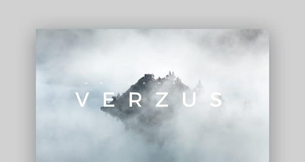 Verzus - Moderne Mac Keynote Präsentationsvorlage
