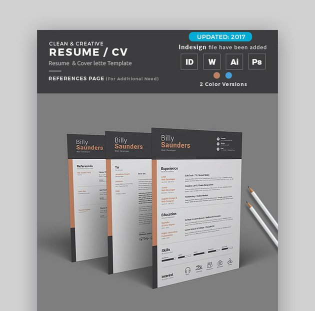 Creative Resume - Clean and Attractive Resume in Word Format