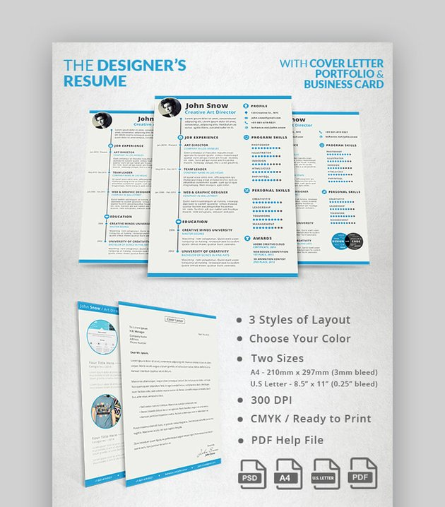 The Designer Resume - Visual and Creative Resume Template