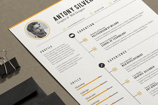 MS Word Resume Template from Envato Elements