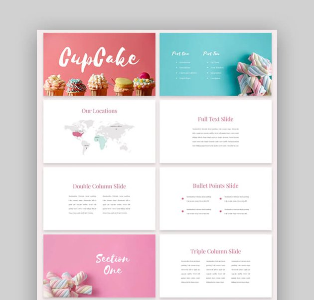 CupCake - Cute Presentation Template for PowerPoint