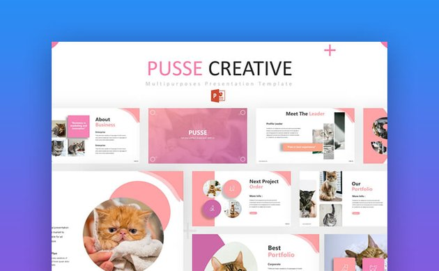 Pusse - Creative and Cute PowerPoint Presentation Template