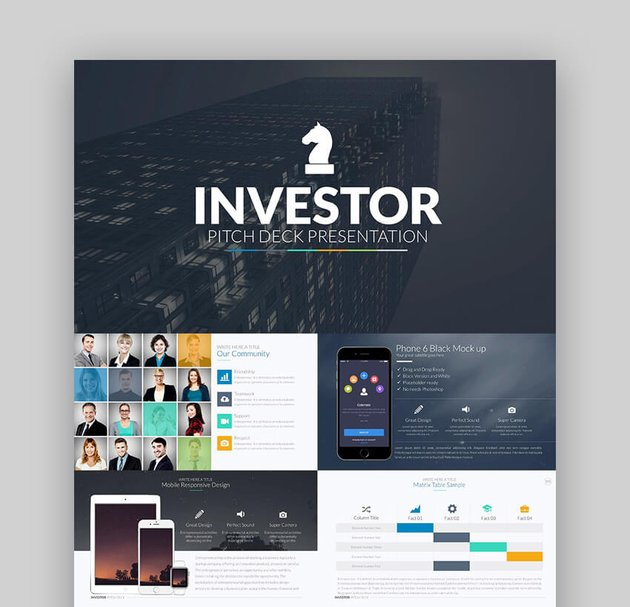 Investor Pitch Deck - PowerPoint Template PPT Design