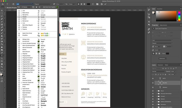 Replacing dummy text in Creative Resume Template Pro