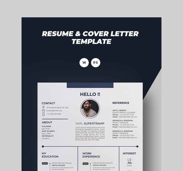 Karl Creative Visual Resume Template
