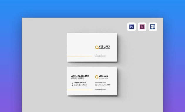 Business Card - Minimal Business Card Template for MS Word