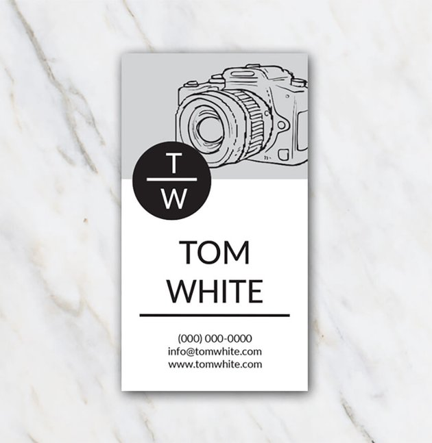 Tom White Free Printable Business Card Template for Word