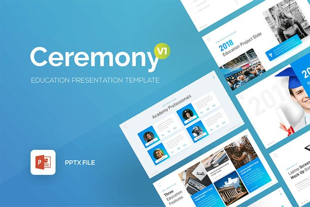 Ceremony Education PowerPoint Template