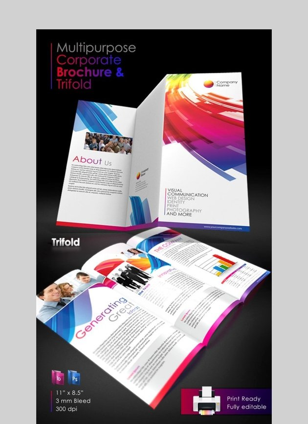 Corporate Brochure - Versatile Brochure Design Template for Photoshop