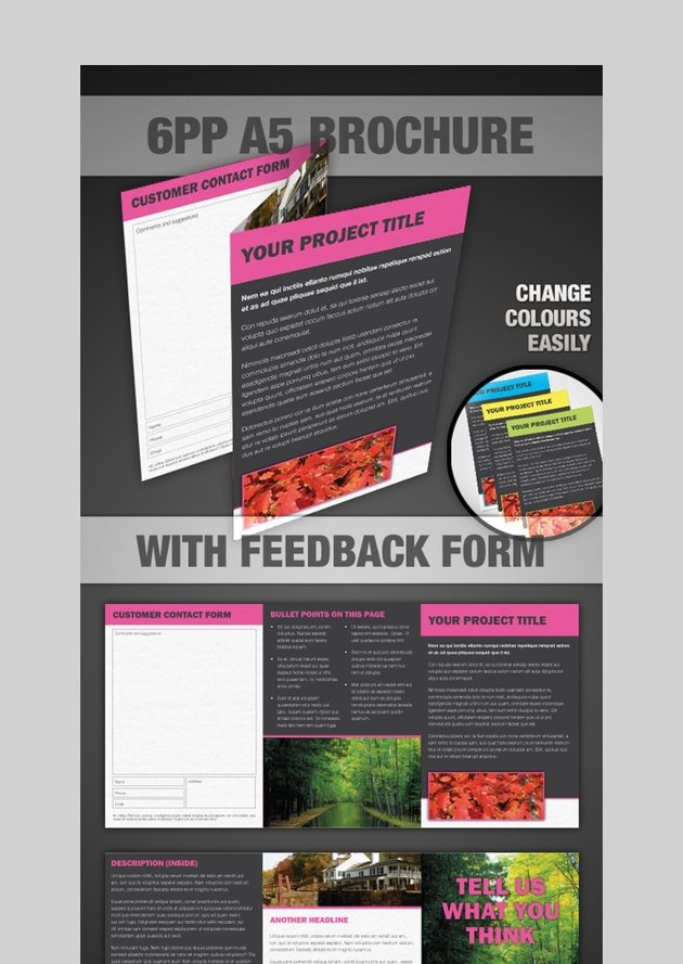 6PP brochure - Photoshop Brochure Template With Feedback Form