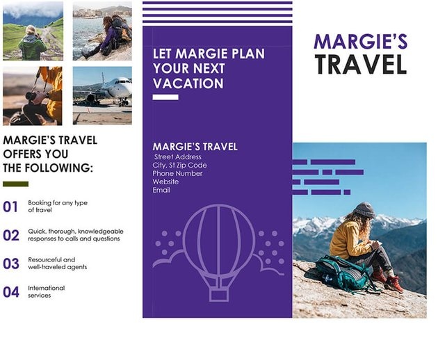 Free Travel Brochure for MS Word
