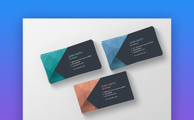 Modern Polygonal Business Card - Customizable Business Card Design
