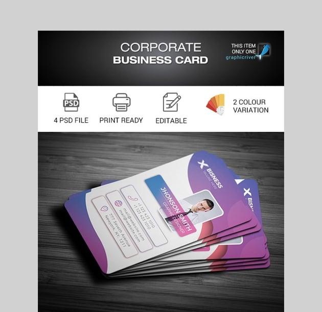 Corporate Business Card - Unique Custom Made Business Card