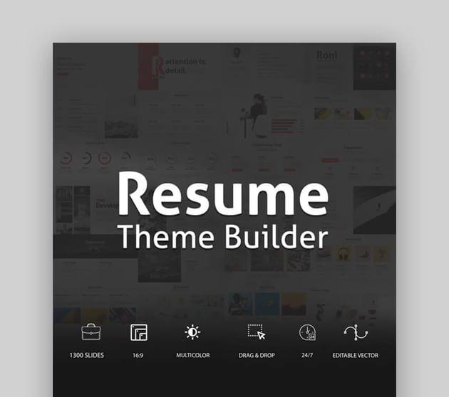 Resume - Versatile Resume PowerPoint Template