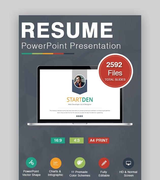 Resume - Modern Resume Template in CV PPT Format