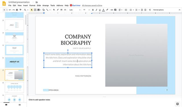 Adding content and customizing text