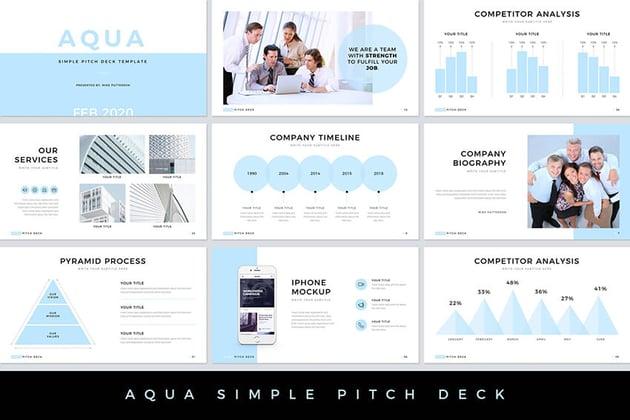 Aqua Pitch Deck template