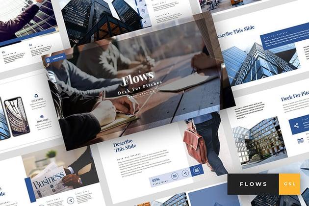 Flows - Google Slides Pitch Deck Template