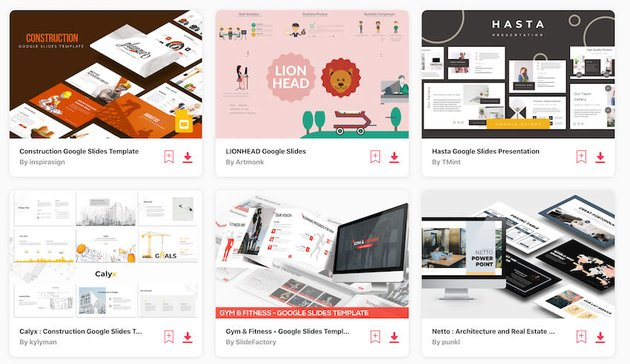 Envato Elements Google Slides templates