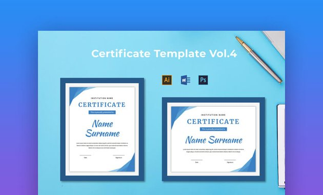 Certificate Template Vol 4 - Modern Certificate Template