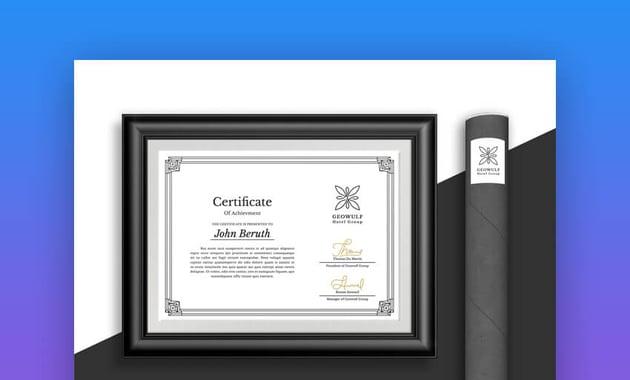 Certificate - Simple Certificate of Achievement Template