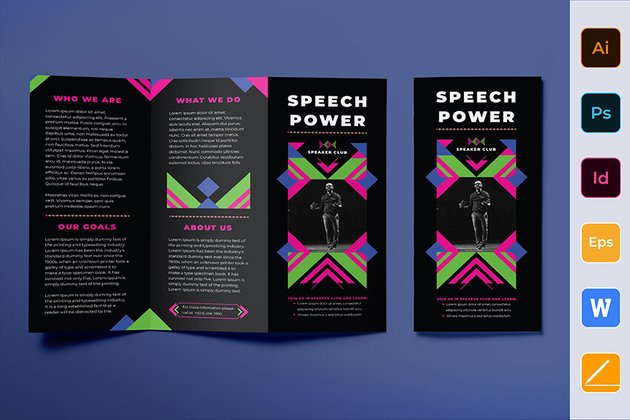 Speaker Brochure Template