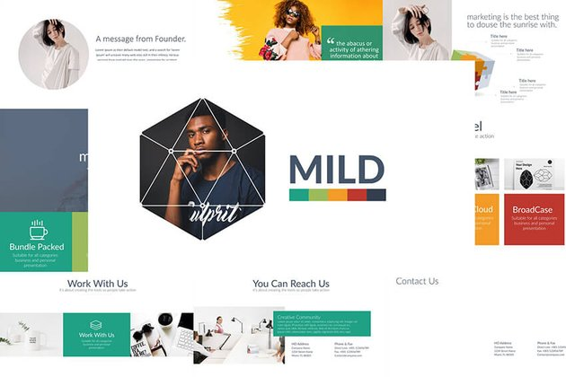MILD PowerPoint Template from Envato Elements