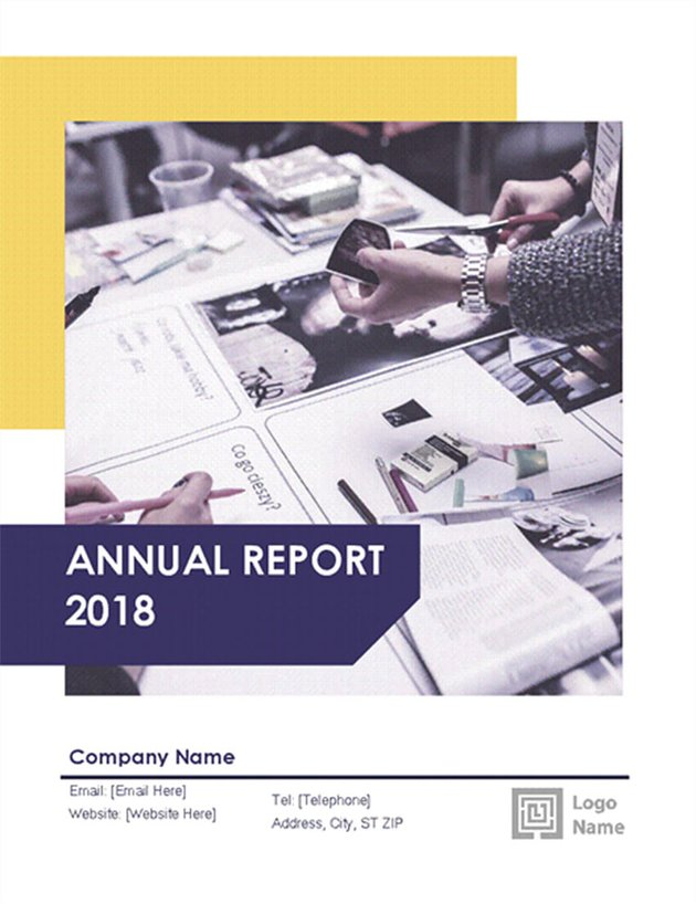 Free Annual Report Template In Word