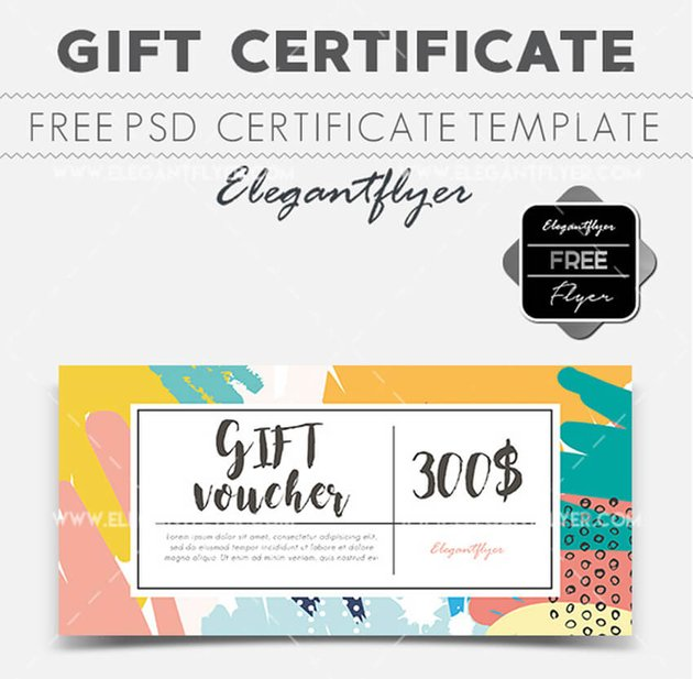 Free Gift Certificate Template for Photoshop