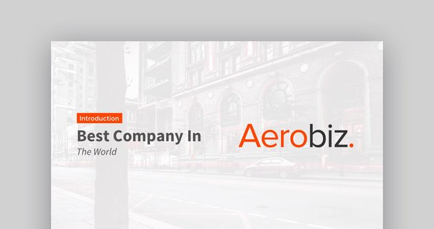 Aerobiz - Best Corporate Presentation Google Slides Template