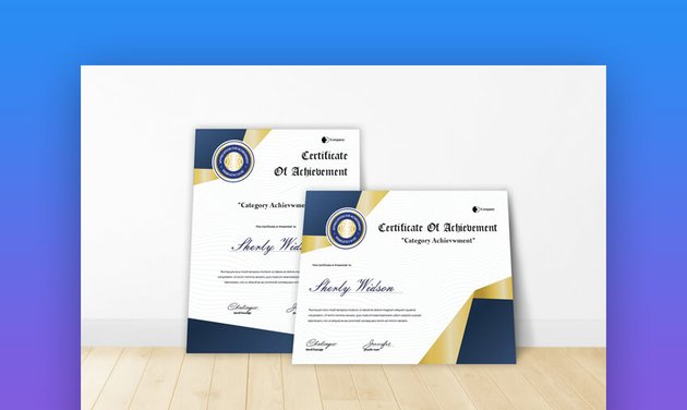Certificate of Achievement - Professional Google Docs Template